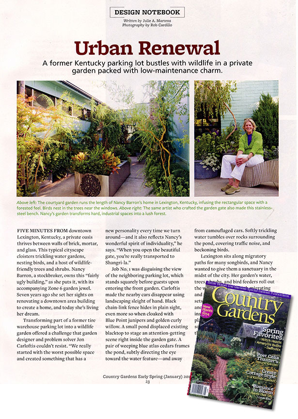 On News Stands Now Early Spring 2014 Issue Of Country Gardens