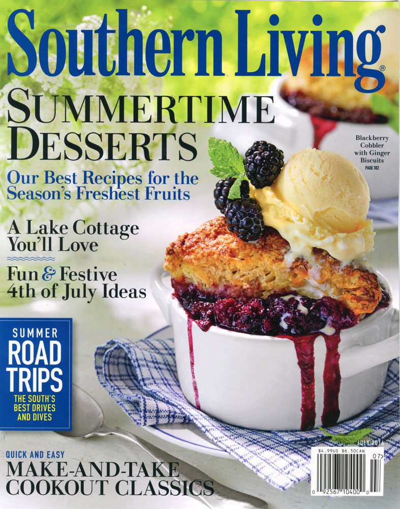 July Issue Of Southern Living Magazine Featuring Our Edible Garden At Botherum