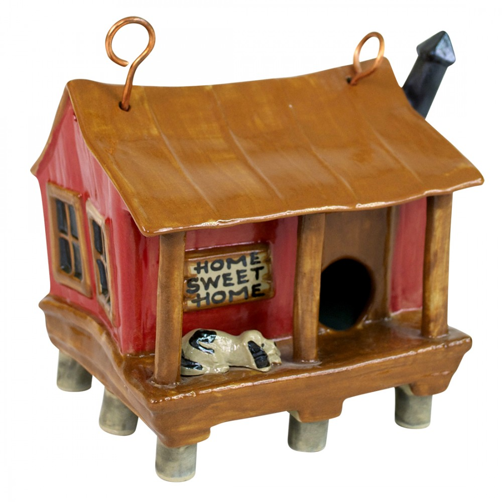 Cabin House Birdhouse