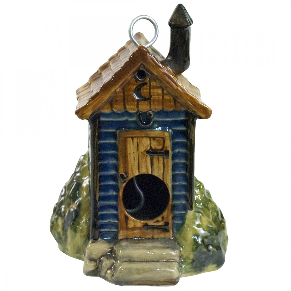 Outhouse Birdhouse (Blue)