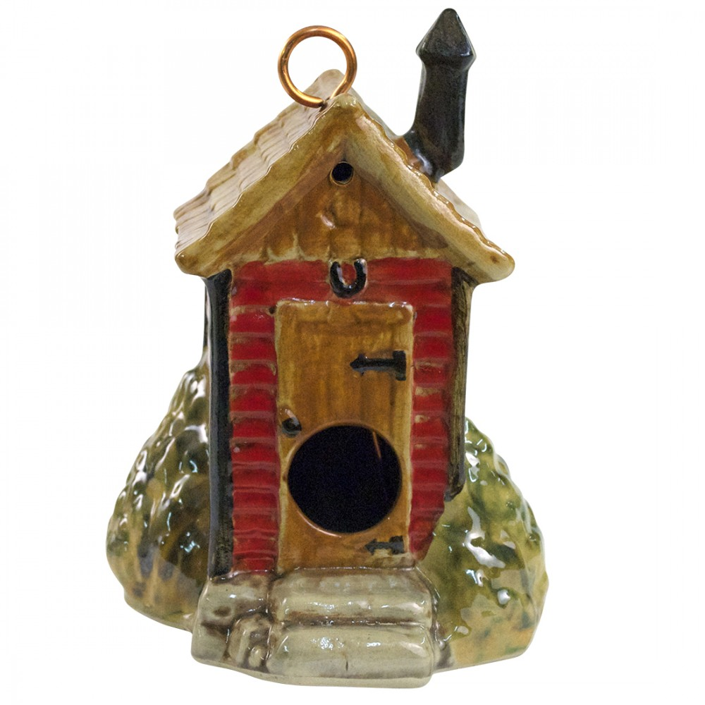 Outhouse Birdhouse (Red)