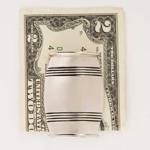 Asa Pewter Barrel Money Clip
