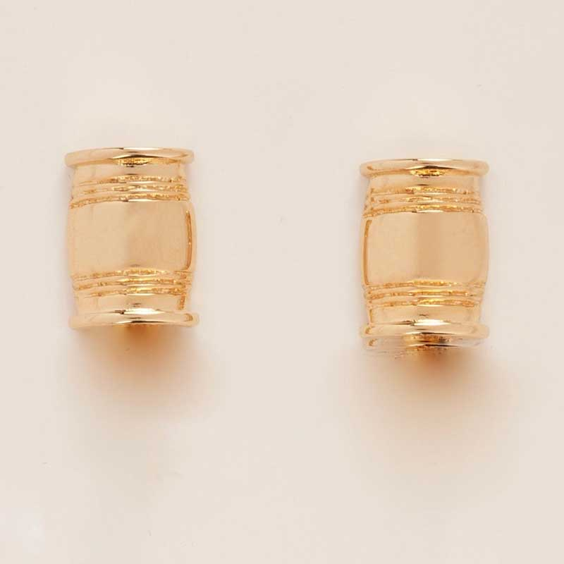 Asa Small Barrel Post Earrings In Gold Or Silver