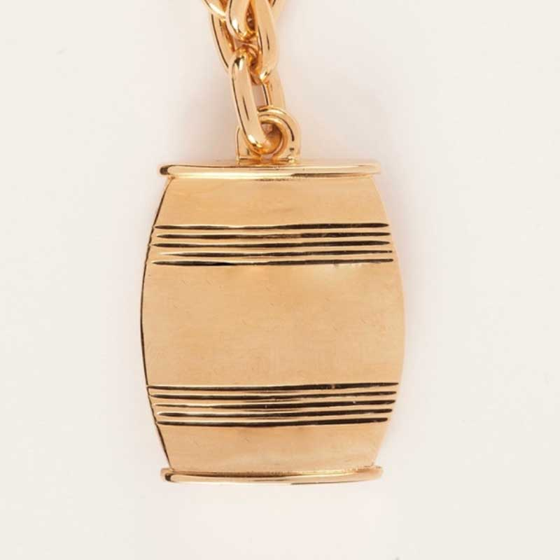 Asa Large Barrel Necklace In Gold Or Silver