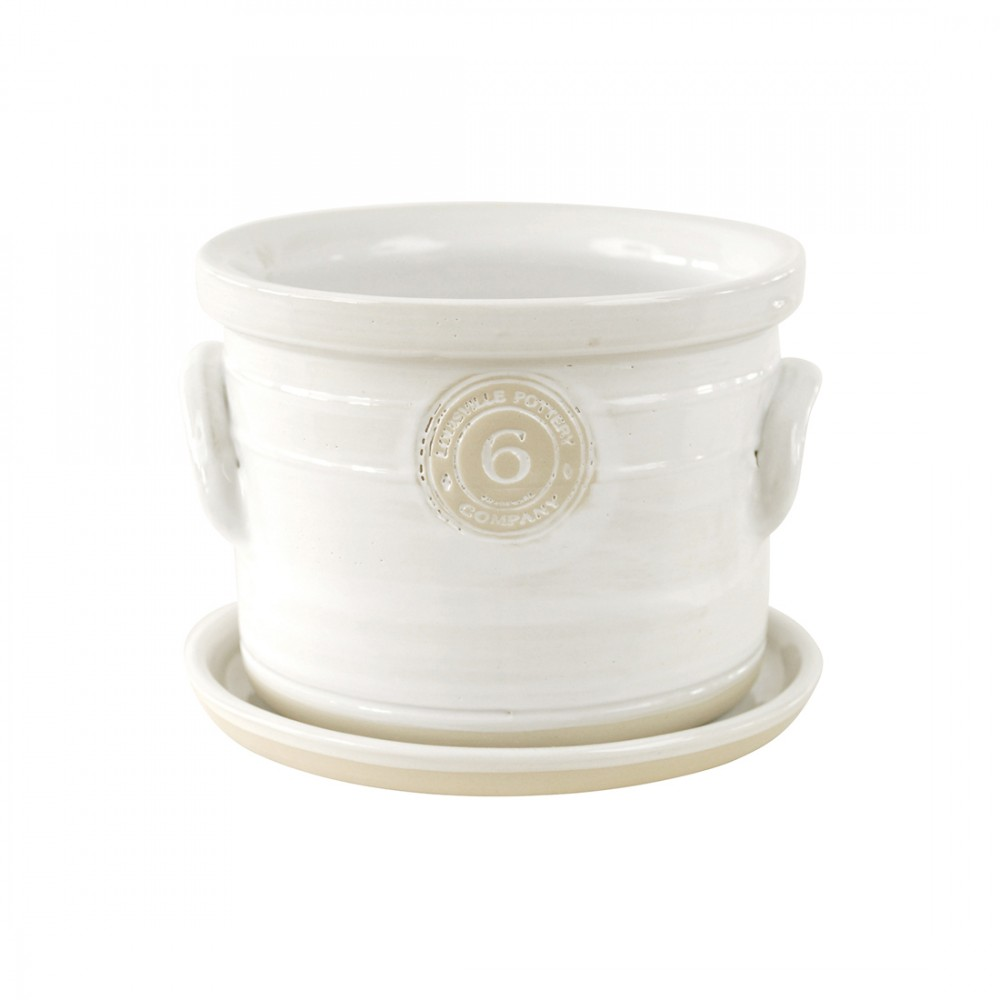 Louisville Pottery Planter – White